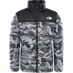 The North Face Kids Nuptse Down Jacket TNF Black Textured Camo Print